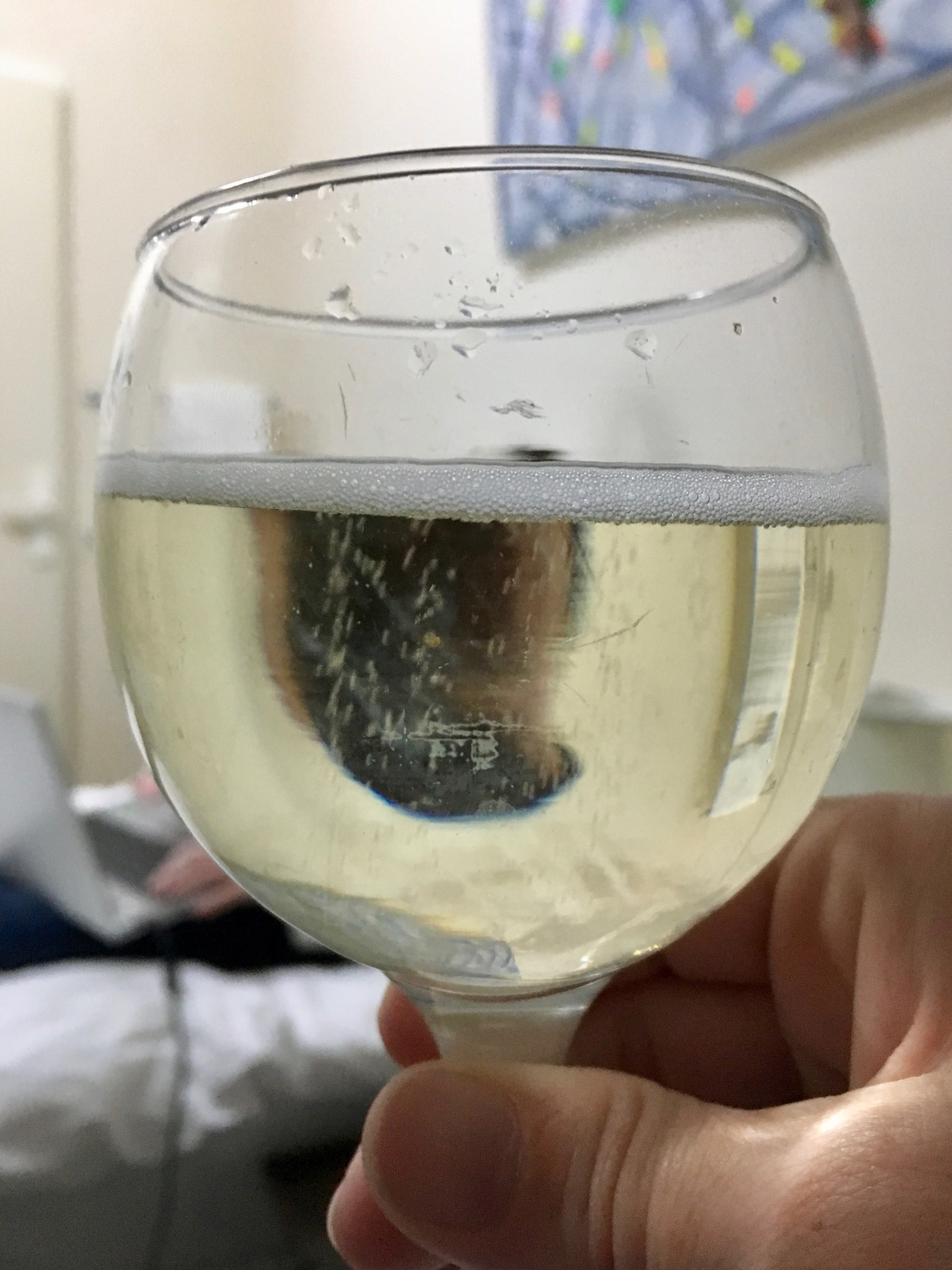 Glass off bubbly